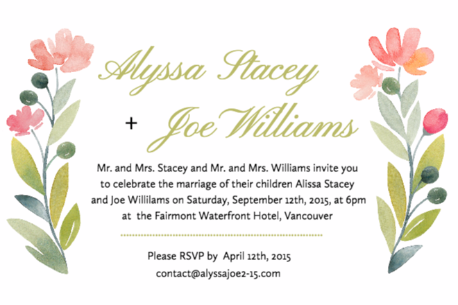 Wedding Invitation Printing Toronto: Free Wedding Invitations Templates