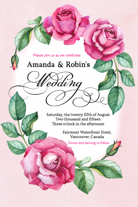 Free Wedding Invitations Templates Design Your Wedding Invitations