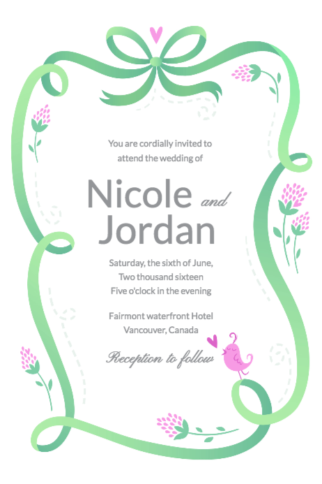 Free Wedding Invitations Templates Design Your Wedding
