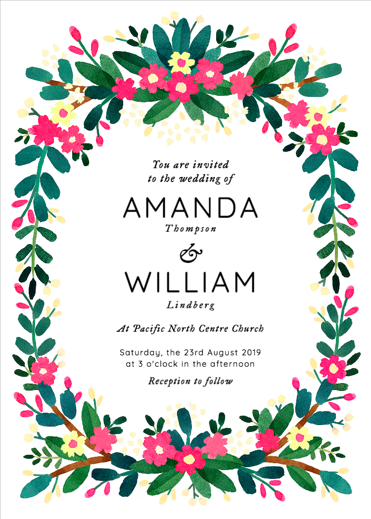 Custom Wedding Invitations Templates