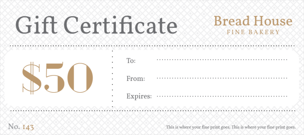 custom gift certificates template