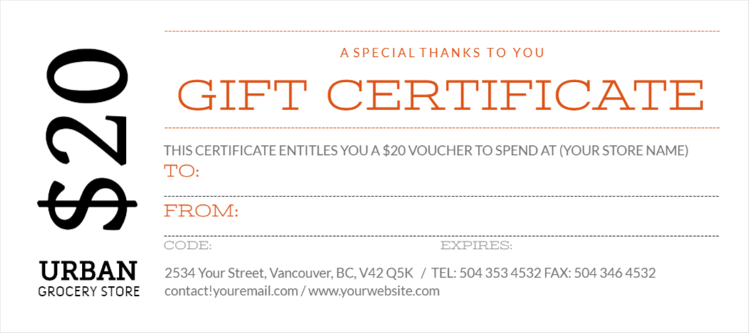 custom gift certificates template - Dog Show Certificate Template