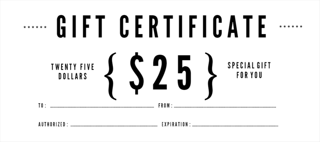 custom gift certificates templates