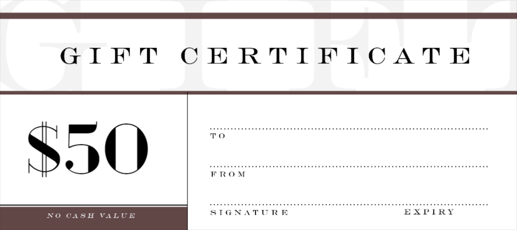 Attractive Custom Gift Certificates Template
