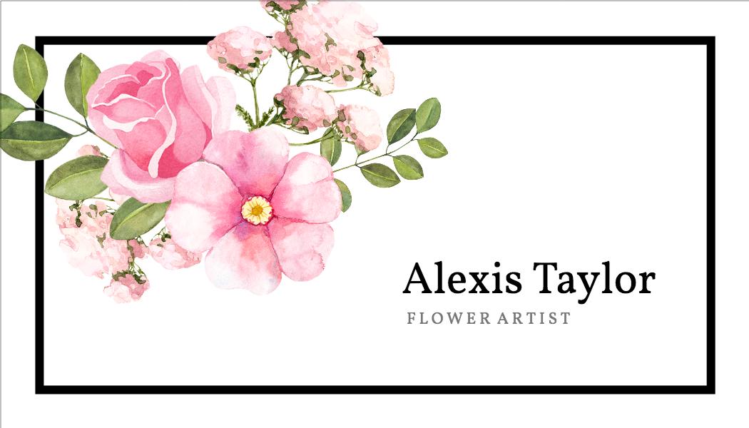 Flower Artist template
