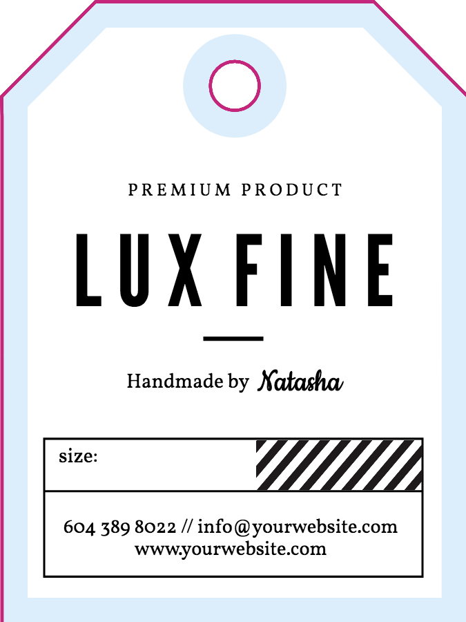 image relating to Free Customized Name Tags Printable identified as Absolutely free Bags Tag Templates - Structure your Baggage Tags against