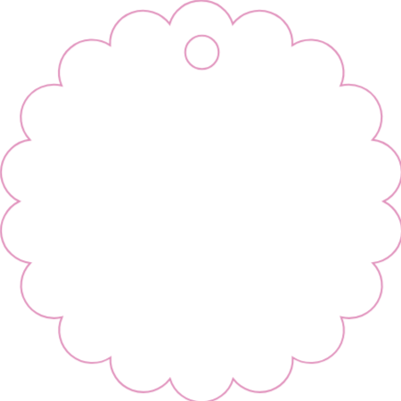 blank bubble circular 3 with 025 hole