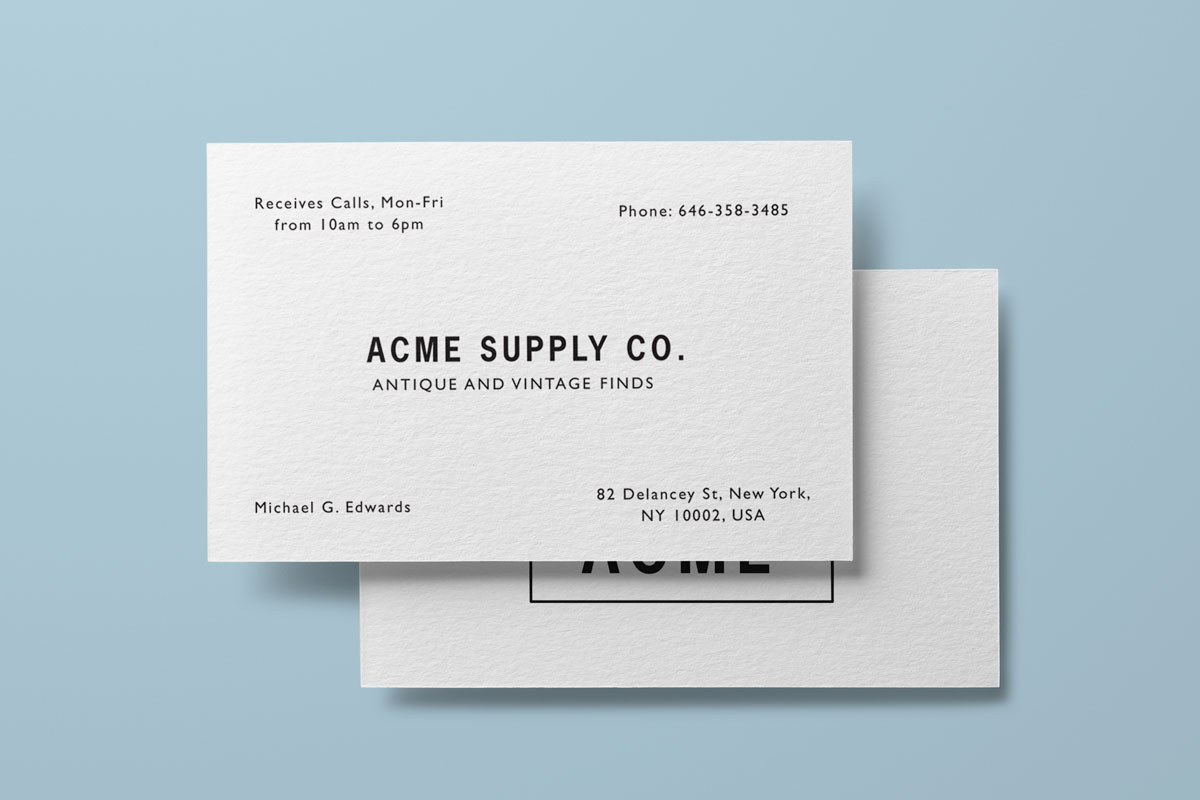 Cotton Business Cards | Jukebox Print