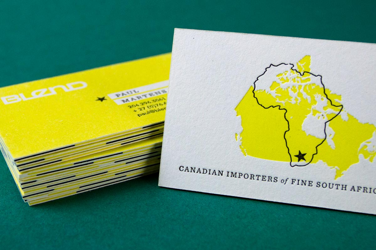 layered business cards