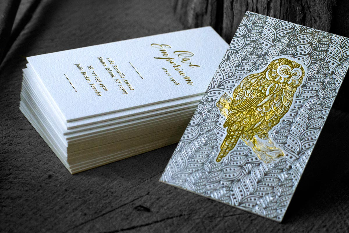Gold Business Custom Business Cards | Jukebox