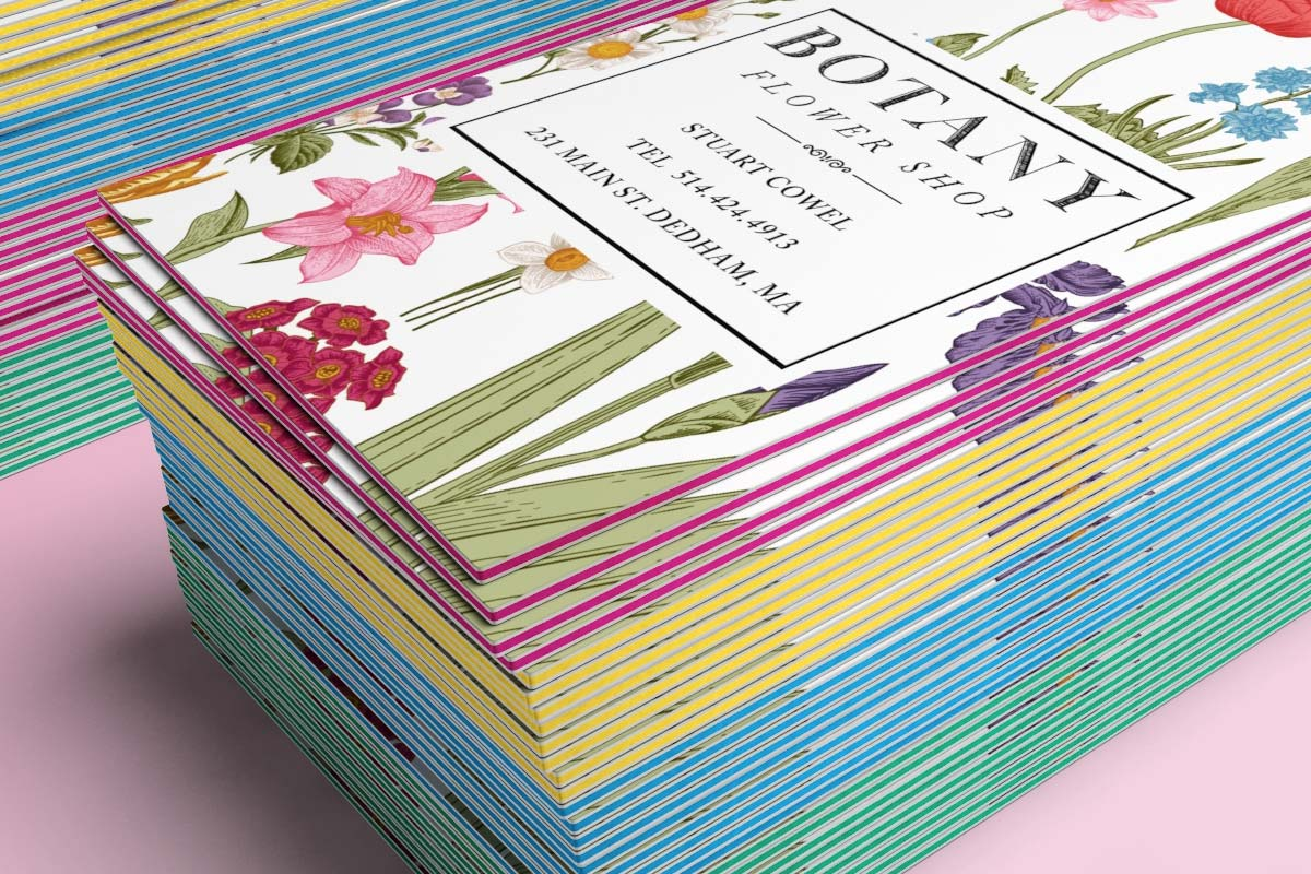 Triplex 3 ply business cards jukebox print 3ply floral business cards colourmoves