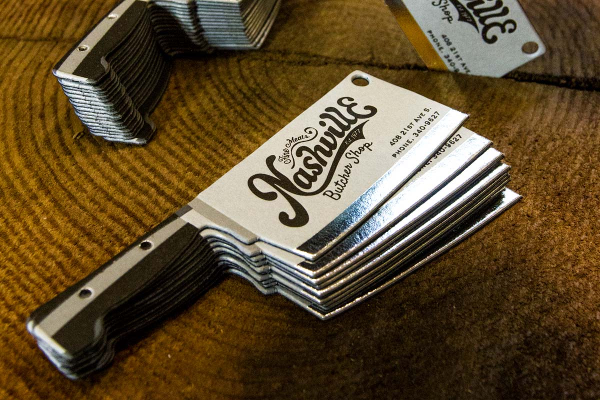 knife shaped business cards - Unique Shaped Business Cards