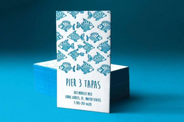 Letterpress business card design templates letterpress business card with pantone blue ink produced on 40pt cotton colourmoves