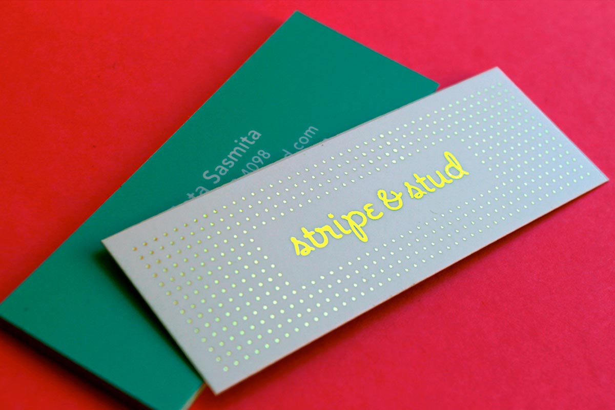 mini business cards with gold foil - Mini Business Cards