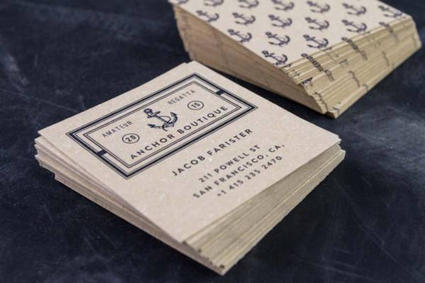 square beige pulp business cards