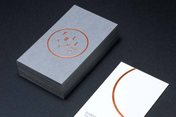 Premium gray business cards print card online cullcher business cards with copper foil produced on vibrant grey colourmoves