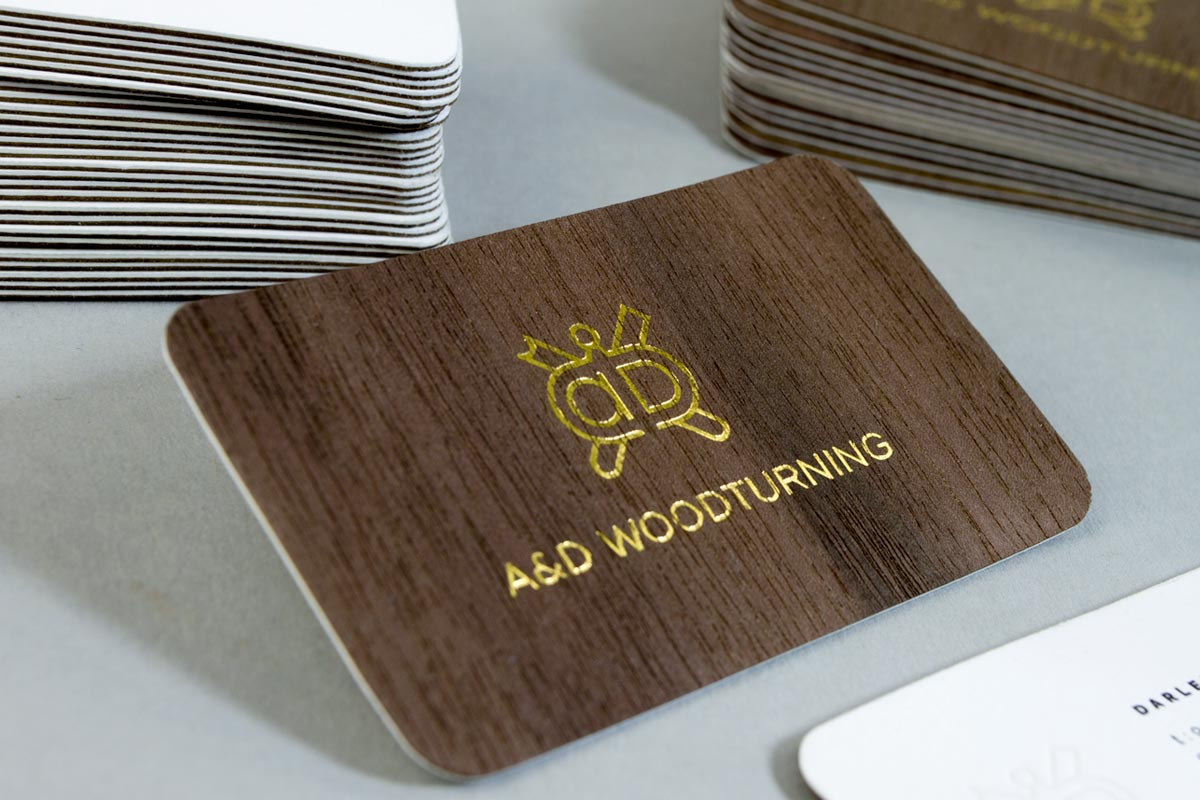 Wooden Business Cards Jukebox Print