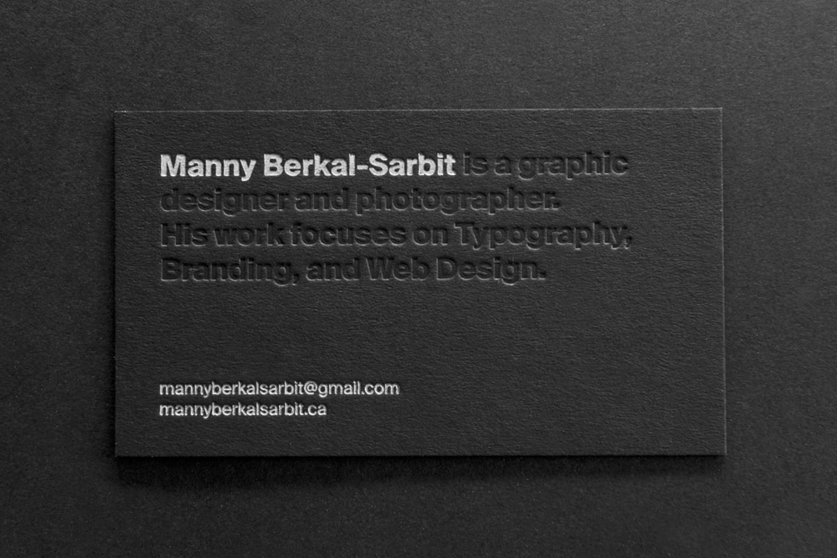 Embossed Business Cards | Jukebox Print