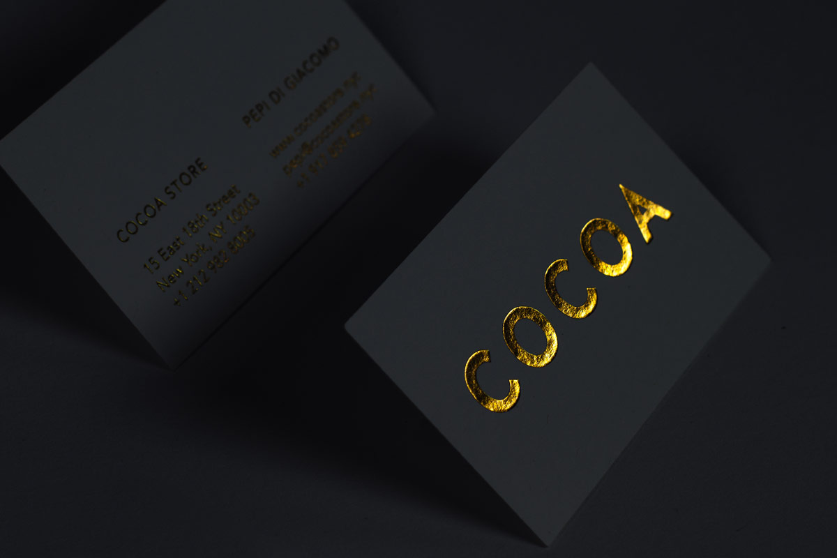 Foil business cards jukebox print black suede business cards with gold and black foil colourmoves