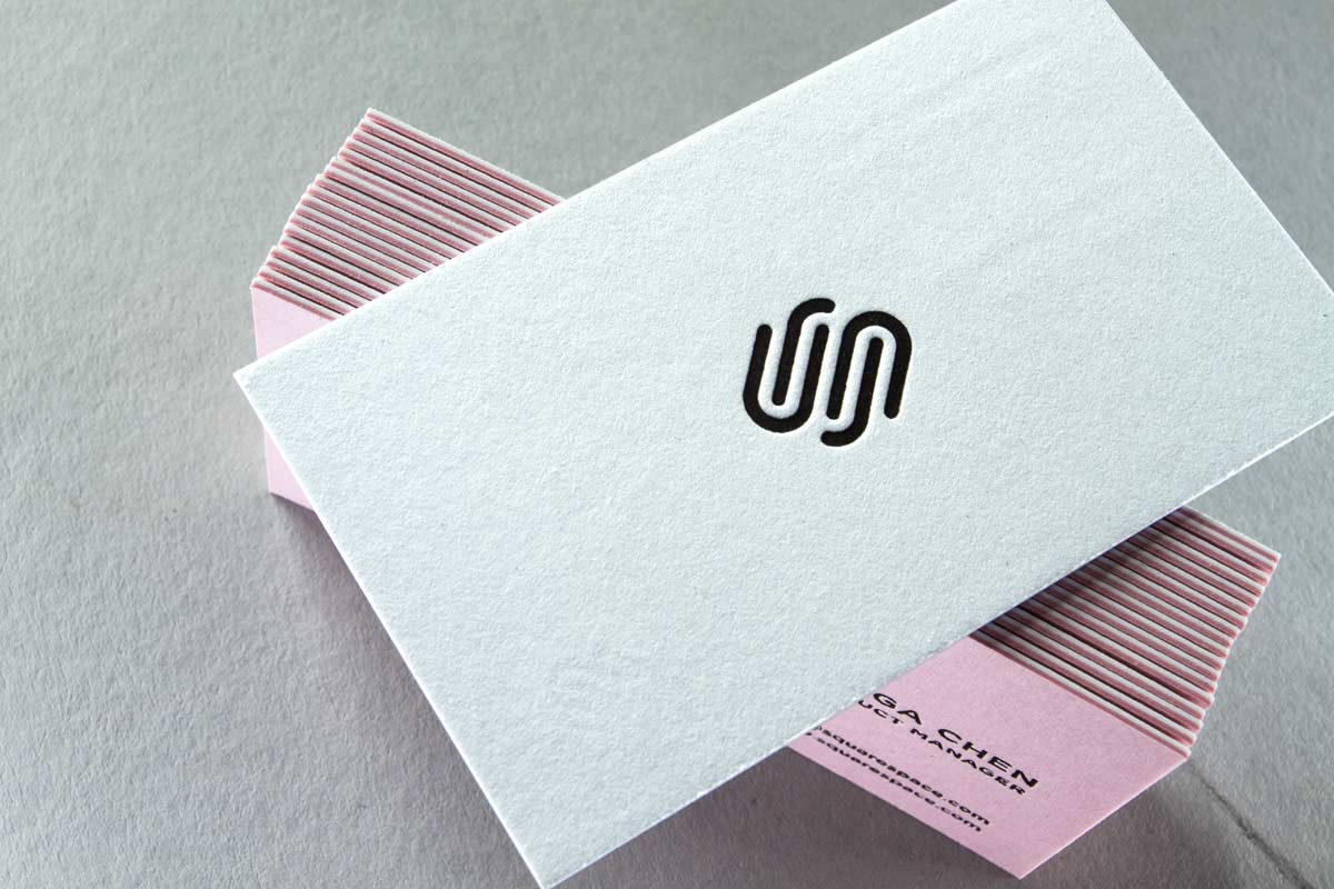génial Letterpress Business Cards