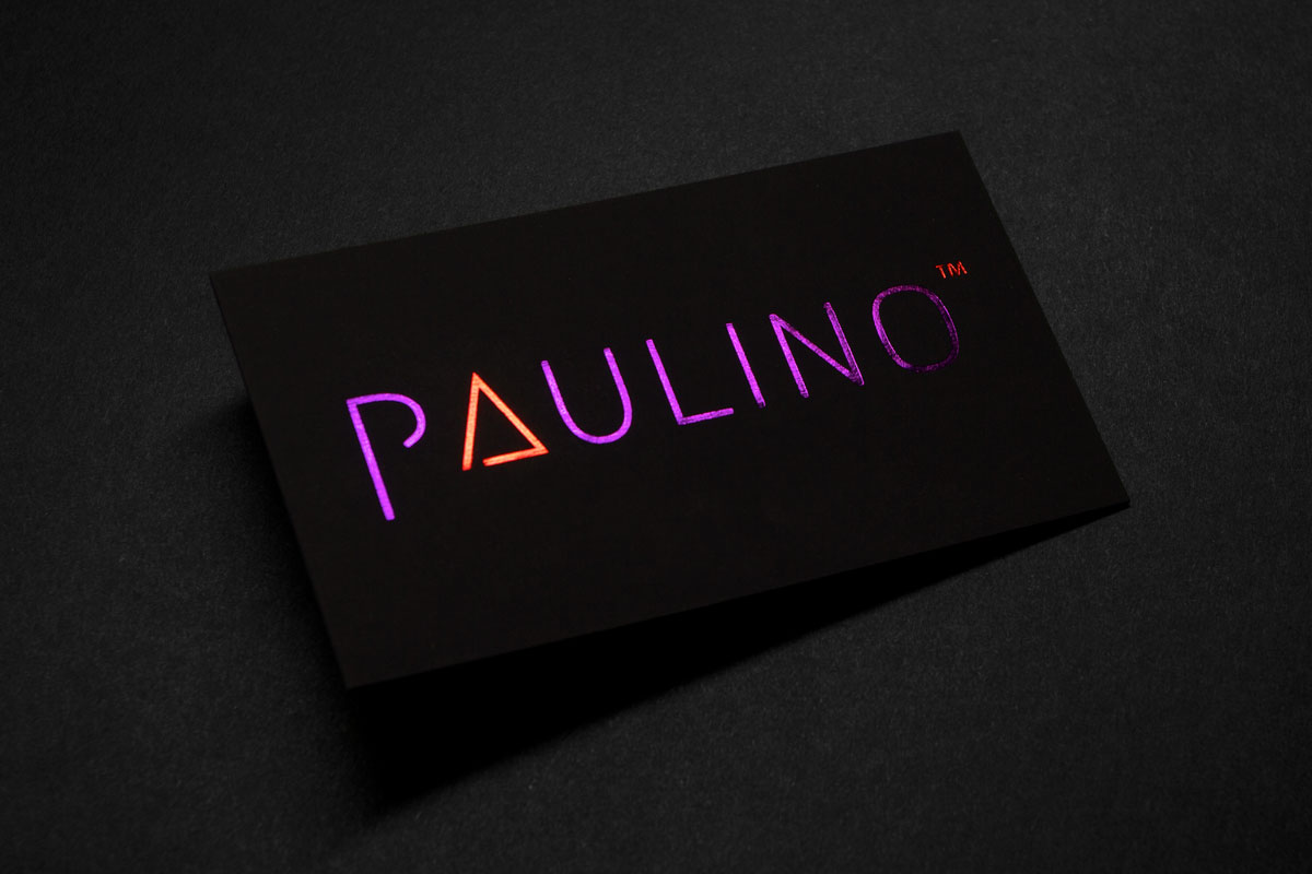Foil business cards jukebox print suede business cards with purple and red foil colourmoves