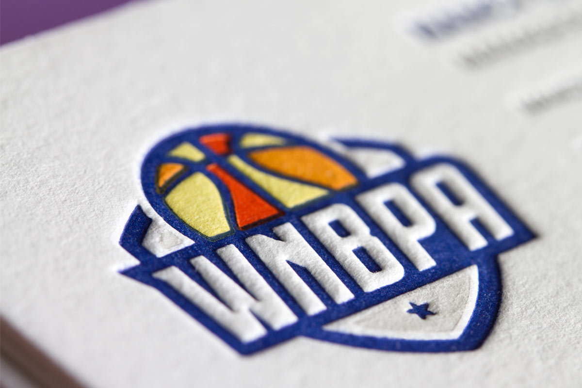 wnba business cards with multi letterpress - Letterpress Business Cards