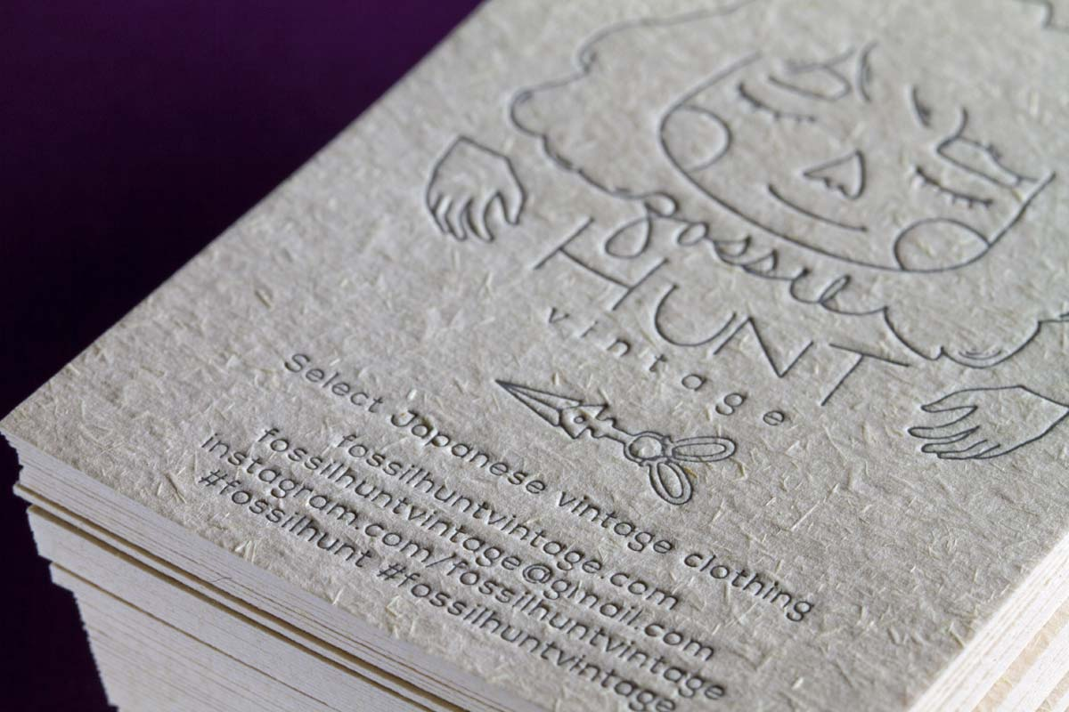hunt village business cards with letterpress - Letterpress Business Cards