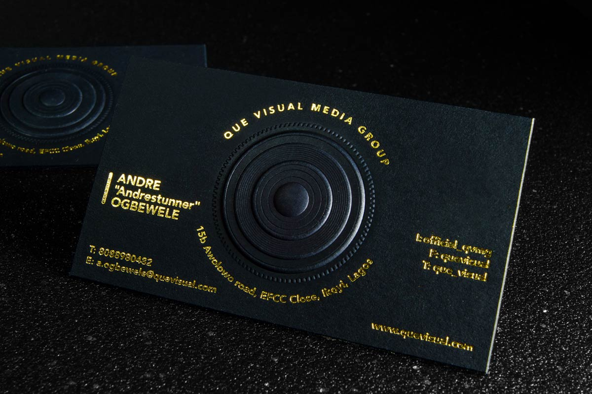 3D Embossed Business Cards | Jukebox Print