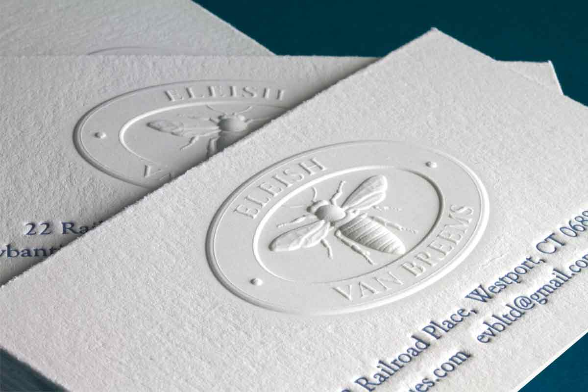 embossed business cards Minimfagencyco