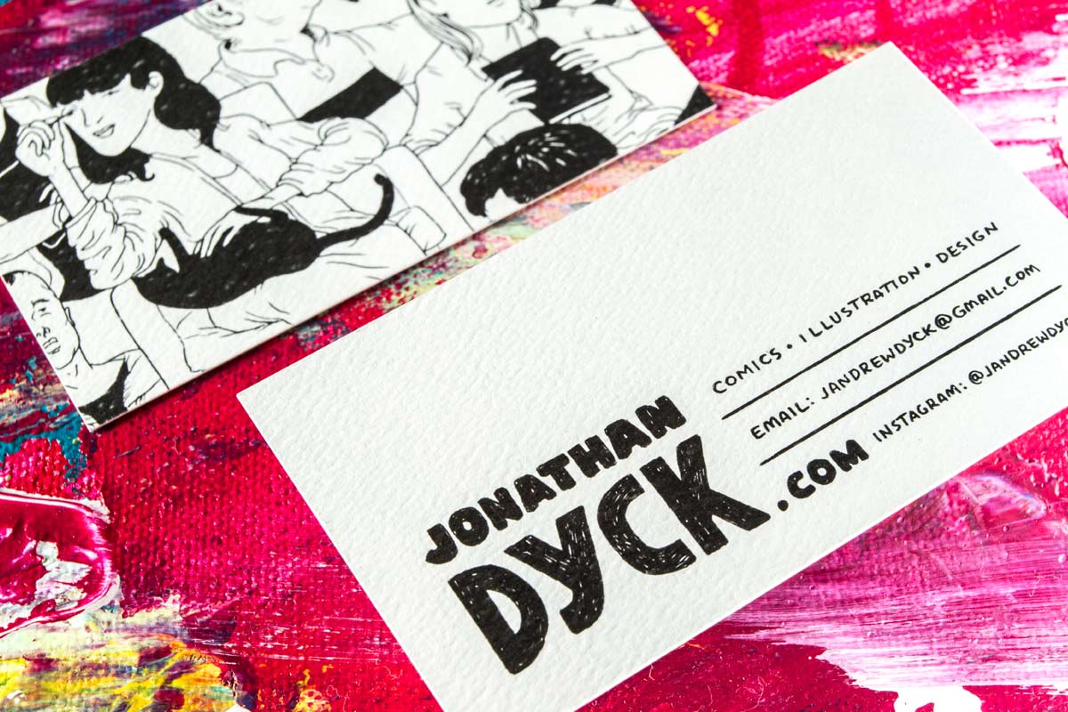 white textured recycled business cards produced with black ink - Textured Business Cards