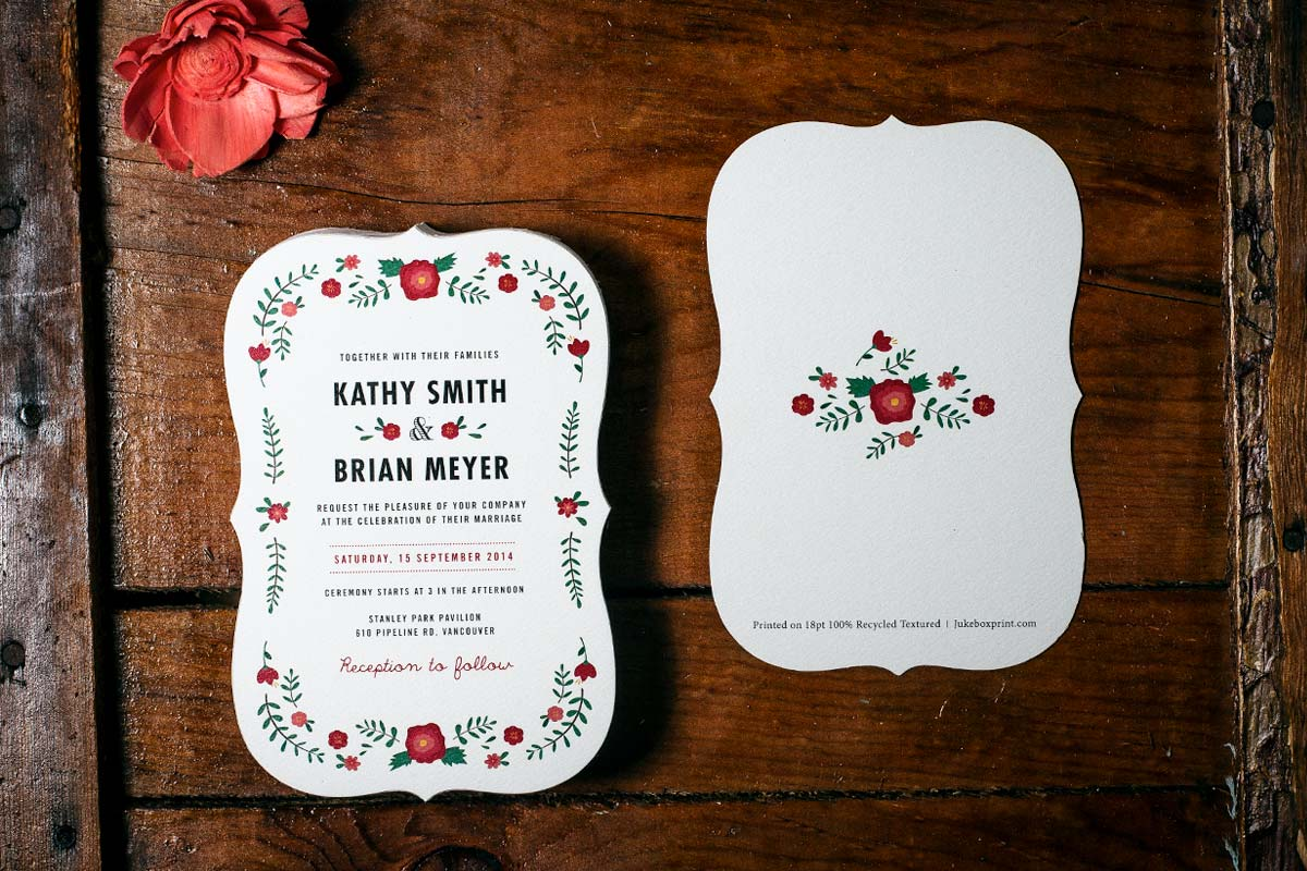 Custom Printed Wedding Invitations Jukebox