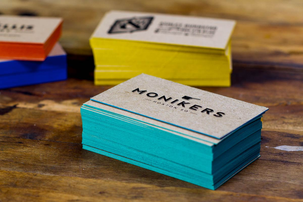 Colored Edge Business Cards | Jukebox Print