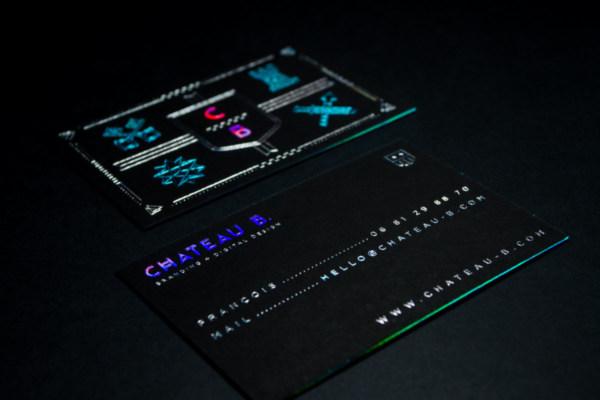Black business cards black suede cards holographic foil business cards produced on black suede paper colourmoves