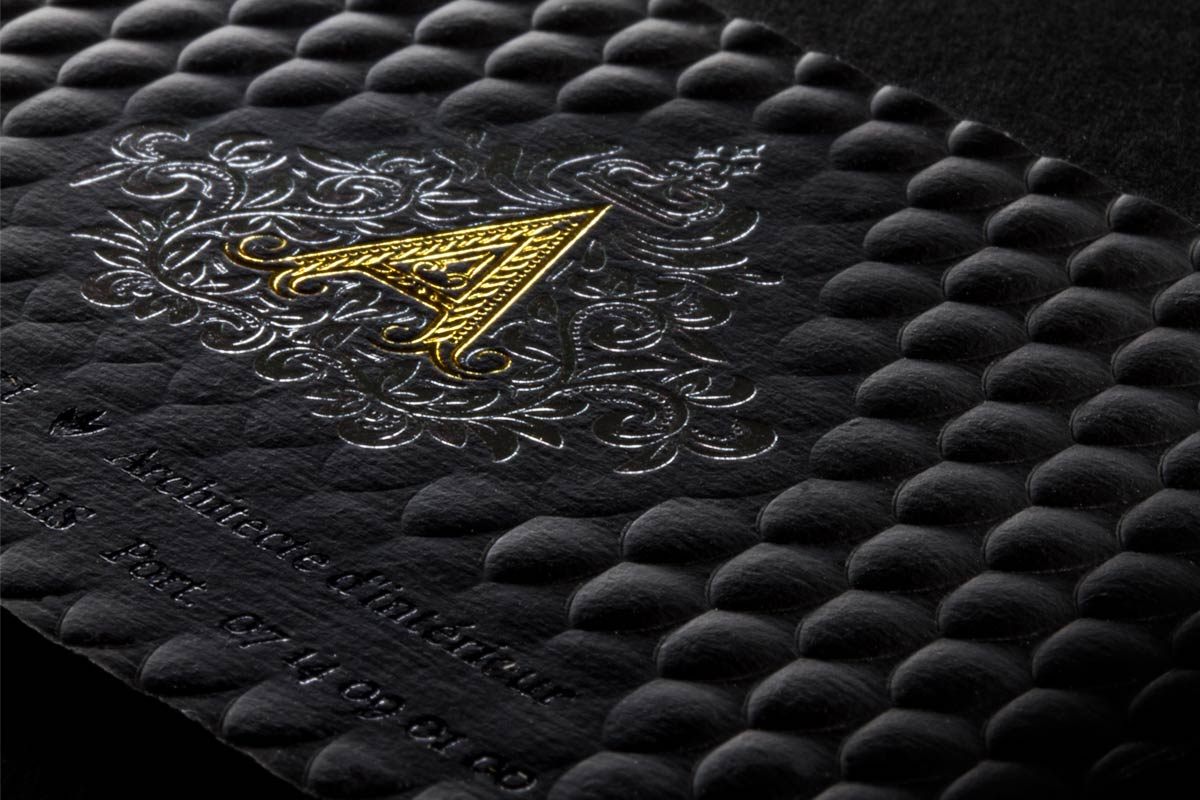 3D Embossed Business Cards | Luxury Business Cards