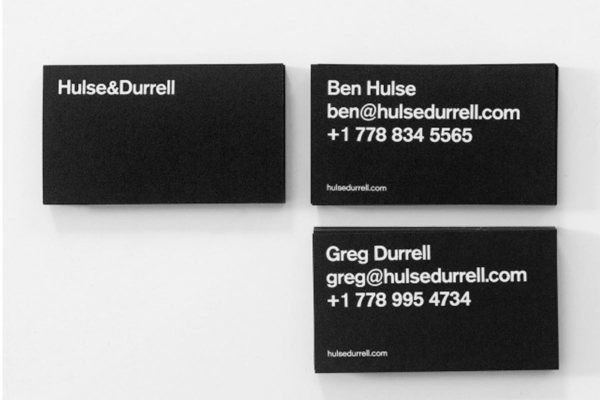 Simple and effective business cards by hulse durell