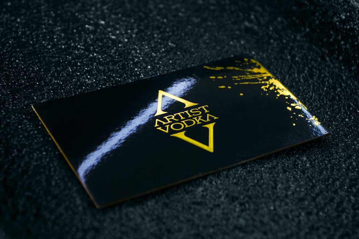 28pt mega thick business cards jukebox print artist vodka gold foil business cards produced on 24pt with supergloss laminate colourmoves