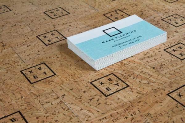 Bamboo business cards jukebox print cork business cards with bamboo backing colourmoves