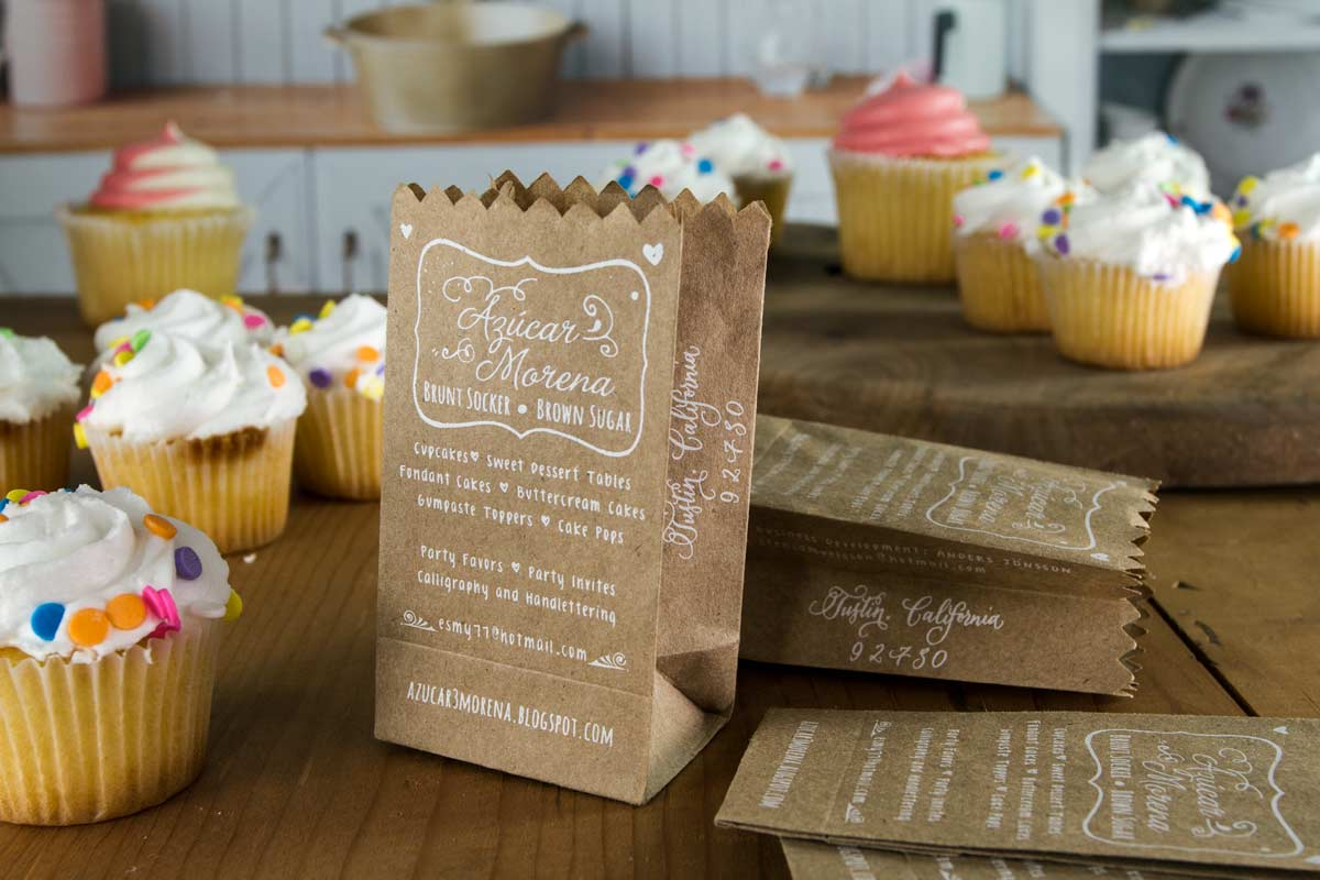 Cupcake Shaped Business Cards Images - Business Card Template