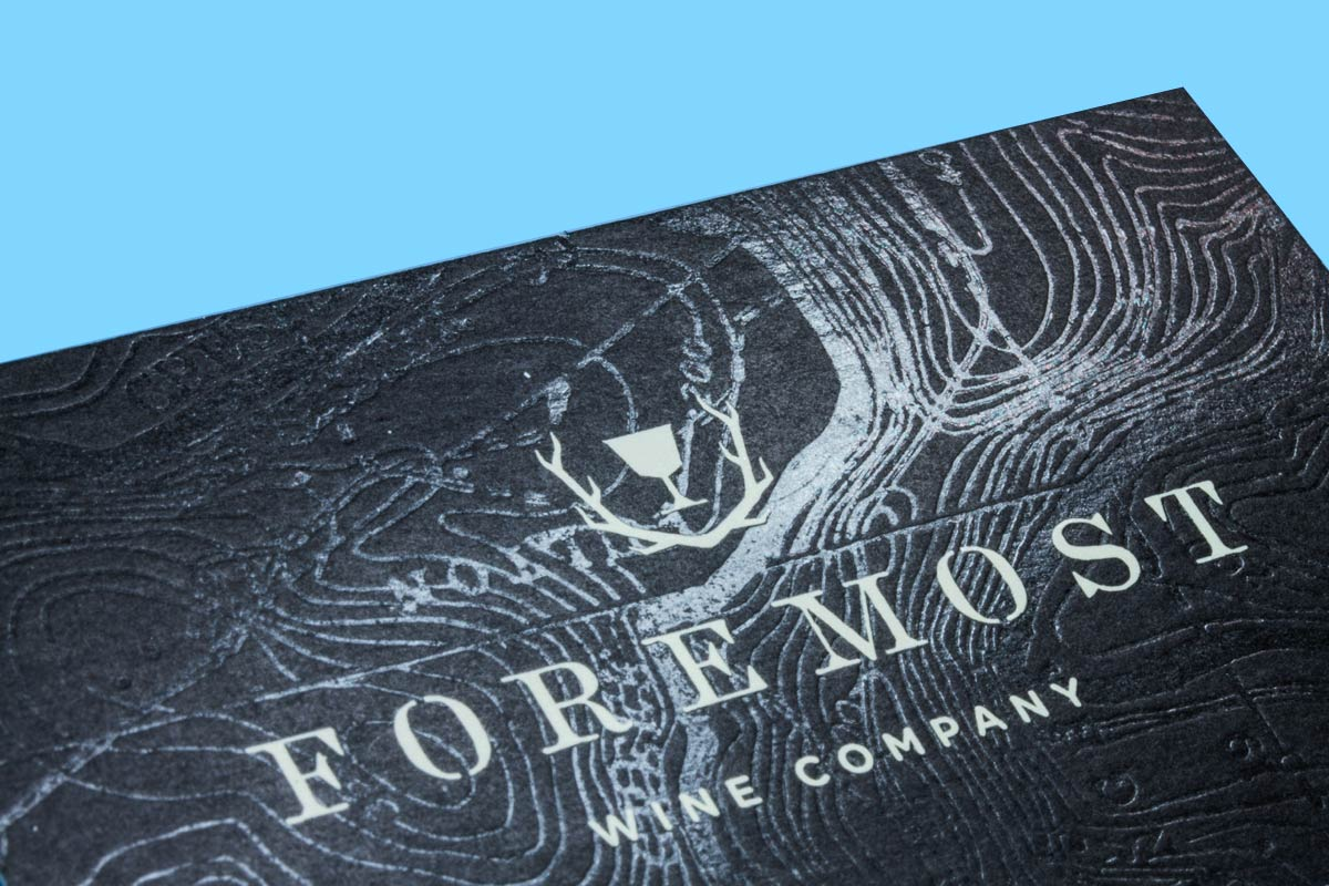 clear foil watermark produced on 24pt uncoated - Foil Print Business Cards