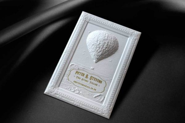 Peter R Stevens Business Card Produced With 3d Embossed On 900gsm