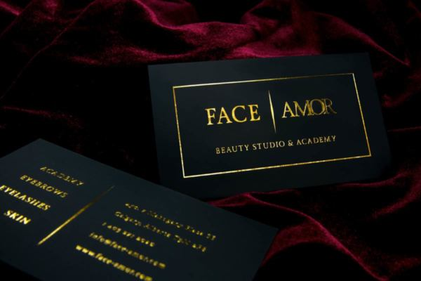 Black business cards black suede cards face amor business cards produced on 24pt suede with gold foil both siudes colourmoves