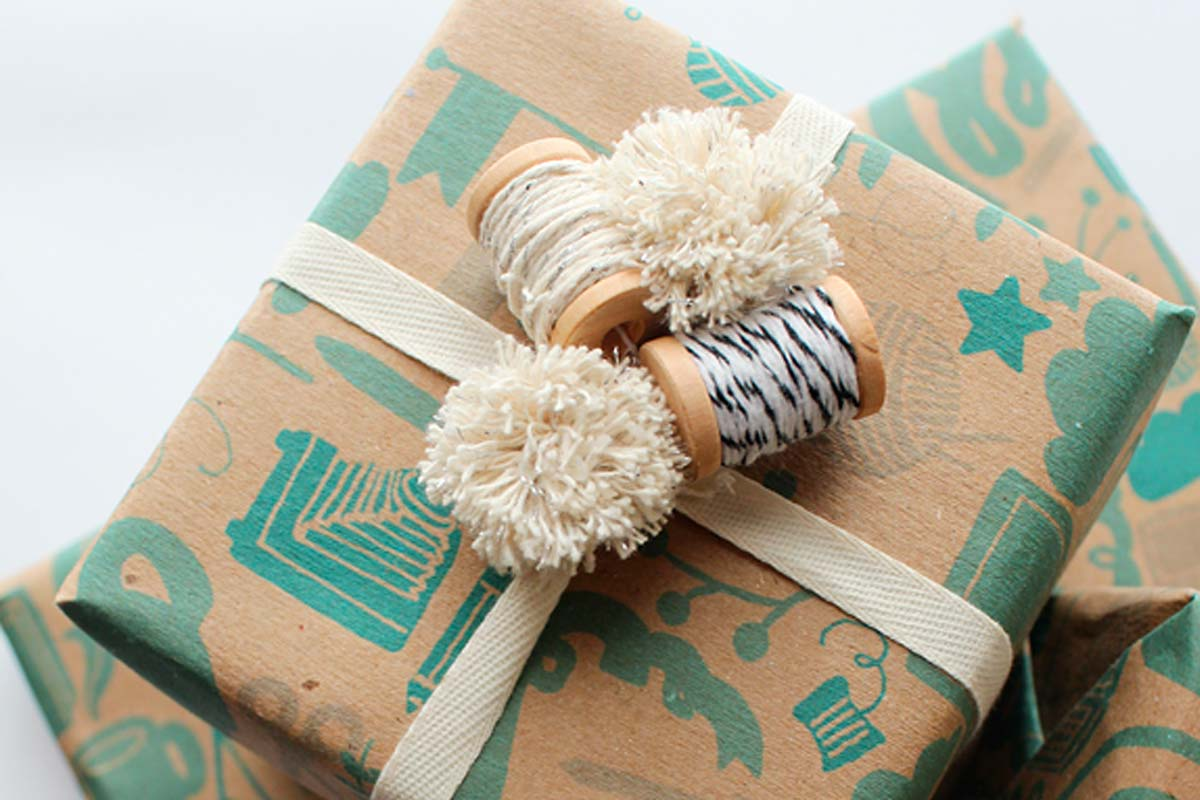 Custom Printed Wrapping Paper Kraft Rolls