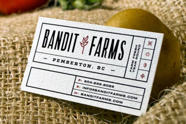 Uncoated business cards jukebox print bandit farms business cards produced on 18pt recycled textured colourmoves