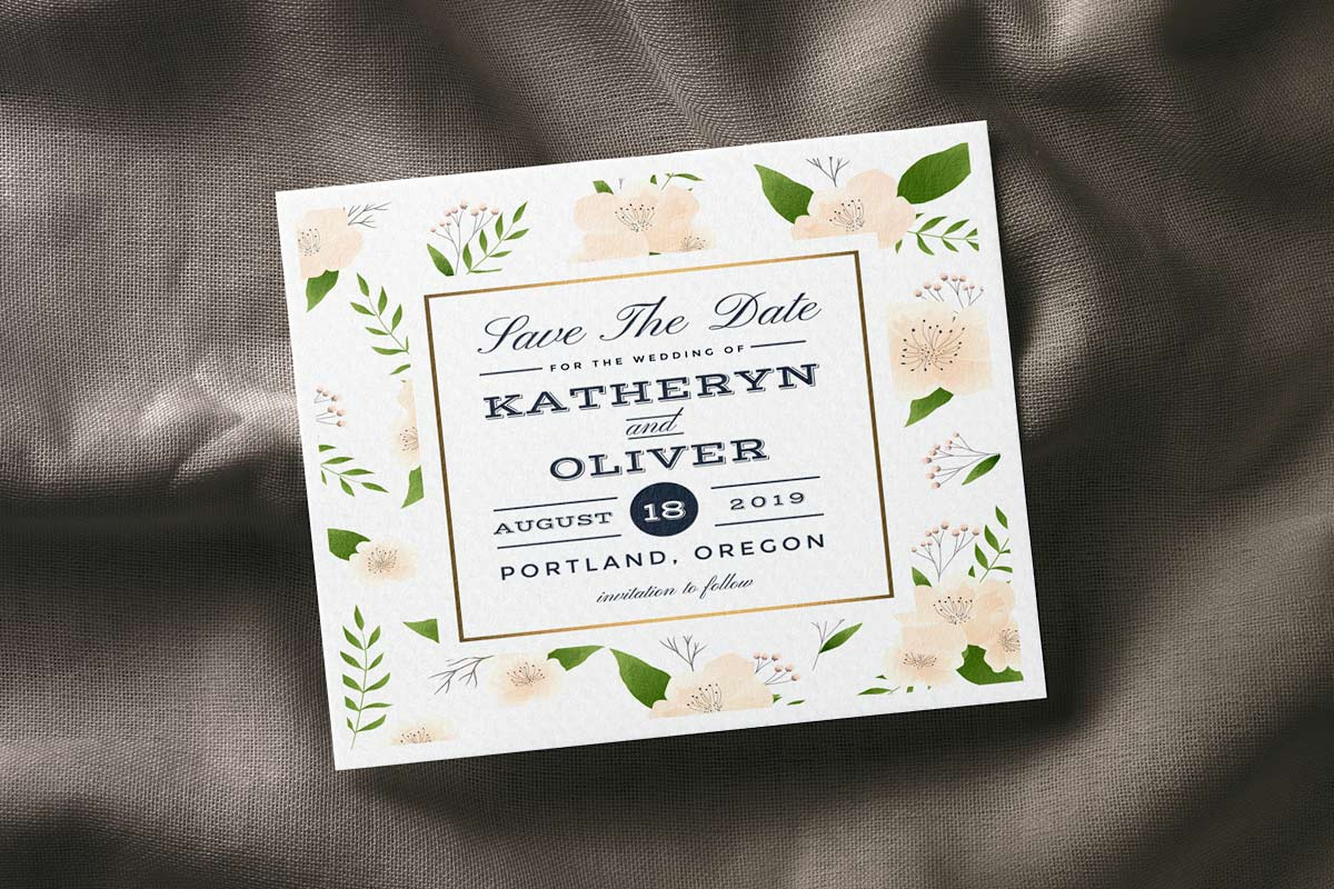 Circular Letterpress Wedding Inviations for Catherine and Michael