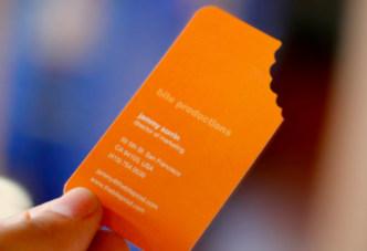 Shaped business cards jukebox print bite mark business cards colourmoves