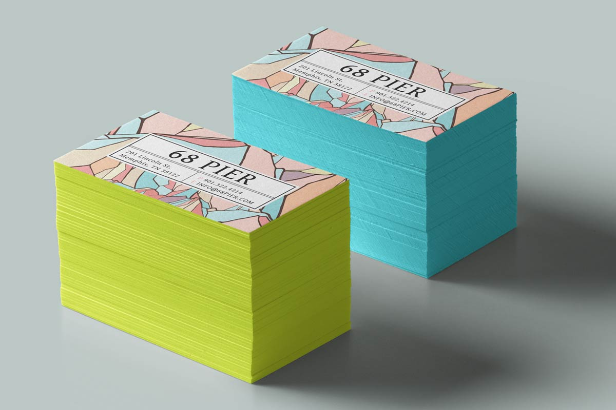 Cotton business cards jukebox print duplex business cards produced with 20pt cotton and painted edges colourmoves