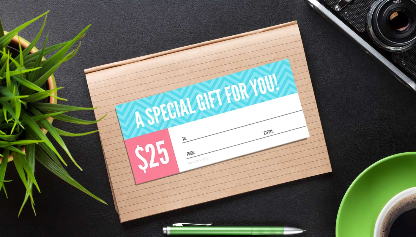 Bright and Bold Gift certificate template