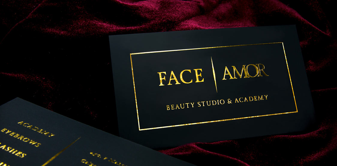 Premium blck business card with gold foil
