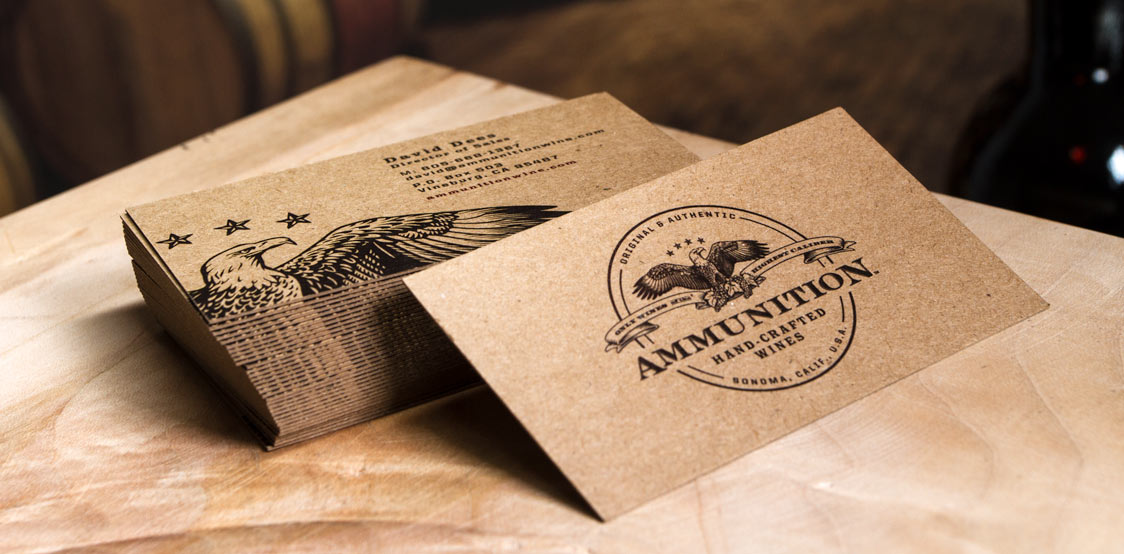 18pt Brown kraft business cards