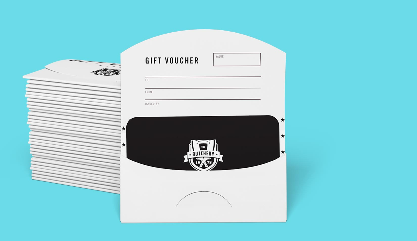 Custom Printed Gift Card Holders Jukebox Print